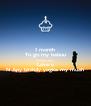 1 month To go my babuu Countdown begin Love u N Apy birthdy yogita my muah - Personalised Poster A4 size