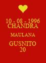 10 - 08 - 1996 CHANDRA MAULANA GUSNITO 20 - Personalised Poster A4 size