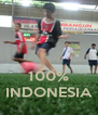 100% INDONESIA - Personalised Poster A4 size