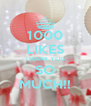 1000 LIKES THANK YOU SO MUCH!! - Personalised Poster A4 size