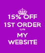 15% OFF 1ST ORDER ON MY WEBSITE - Personalised Poster A4 size