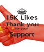 15K Likes Thank you for your Support  - Personalised Poster A4 size