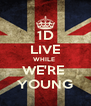 1D LIVE WHILE  WE'RE  YOUNG - Personalised Poster A4 size