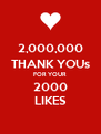 2,000,000 THANK YOUs FOR YOUR 2000 LIKES - Personalised Poster A4 size