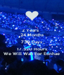 2 Years   24 Months 730 Days 17.520 Hours We Will Wait For Eunhae - Personalised Poster A4 size