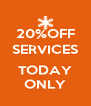 20%OFF SERVICES  TODAY ONLY - Personalised Poster A4 size