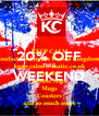 20% OFF THIS WEEKEND  - Personalised Poster A4 size