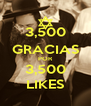 3,500 GRACIAS POR 3,500 LIKES - Personalised Poster A4 size
