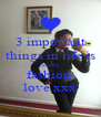 3 important things in life is beauty fashion  love xxx - Personalised Poster A4 size