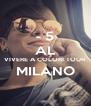 - 5 AL VIVERE A COLORI TOUR  MILANO  - Personalised Poster A4 size