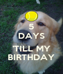 5 DAYS  'TILL MY BIRTHDAY - Personalised Poster A4 size
