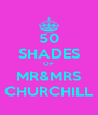 50 SHADES OF MR&MRS CHURCHILL - Personalised Poster A4 size