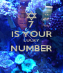 7 IS YOUR LUCKY NUMBER  - Personalised Poster A4 size