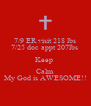 7/9 ER visit 218 lbs 7/25 doc appt 207lbs  Keep  Calm My God is AWESOME!! - Personalised Poster A4 size