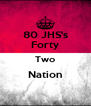 80 JHS's Forty Two Nation  - Personalised Poster A4 size