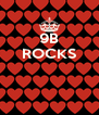 9B ROCKS    - Personalised Poster A4 size
