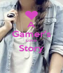 A Gamer's Love Story  - Personalised Poster A4 size
