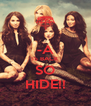 -A IS BACK SO HIDE!! - Personalised Poster A4 size
