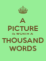 A  PICTURE IS WORTH A THOUSAND WORDS - Personalised Poster A4 size