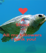 A Shout To All my followers   Thank you! - Personalised Poster A4 size
