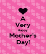 A Very Happy Mother's Day! - Personalised Poster A4 size