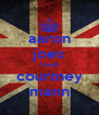 aaron joes loves courtney mann - Personalised Poster A4 size