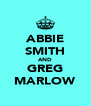 ABBIE SMITH AND GREG MARLOW - Personalised Poster A4 size