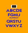 ABCDE FGHIJ KLMNOP QRSTU VWXYZ - Personalised Poster A4 size