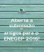 Aberta a submissão de artigos para o  ENEGEP 2016! - Personalised Poster A4 size