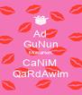 Ad GuNun MuBaReK CaNiM  QaRdAwIm - Personalised Poster A4 size