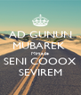 AD GUNUN MUBAREK  Mirzade SENI COOOX SEVIREM - Personalised Poster A4 size