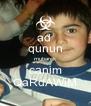 ad  qunun mubarek canim QaRdAWiM - Personalised Poster A4 size