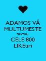ADAMOS VĂ MULTUMESTE PENTRU  CELE 800 LIKEuri - Personalised Poster A4 size