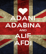 ADANI ADABINA AND ALIF AFDI - Personalised Poster A4 size