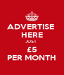 ADVERTISE  HERE JUST  £5 PER MONTH - Personalised Poster A4 size