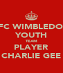 AFC WIMBLEDON YOUTH TEAM PLAYER CHARLIE GEE - Personalised Poster A4 size