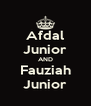Afdal Junior AND Fauziah Junior - Personalised Poster A4 size