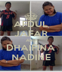 AFDUL JAFAR AND DHAIFINA NADINE - Personalised Poster A4 size
