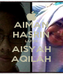 AIMAN HASRIN LOVE AISYAH AQILAH - Personalised Poster A4 size