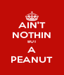 AIN'T NOTHIN BUT A PEANUT - Personalised Poster A4 size