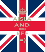 AISLA AND DEN BFF =) - Personalised Poster A4 size