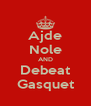 Ajde Nole AND Debeat Gasquet - Personalised Poster A4 size