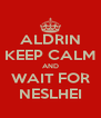 ALDRIN KEEP CALM AND WAIT FOR NESLHEI - Personalised Poster A4 size