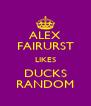 ALEX FAIRURST LIKES DUCKS RANDOM - Personalised Poster A4 size
