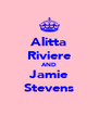Alitta Riviere AND Jamie Stevens - Personalised Poster A4 size
