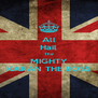 All Hail The MIGHTY KARAN THE BOSS - Personalised Poster A4 size