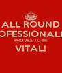 ALL ROUND PROFESSIONALISM PROVES TO BE VITAL!  - Personalised Poster A4 size