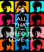 ALL THAT YOU  NEED IS  LOVE <3  - Personalised Poster A4 size