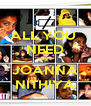 ALL YOU  NEED IS JOANNA NITHIYA - Personalised Poster A4 size