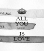 ALL YOU NEED IS LOVE - Personalised Poster A4 size
